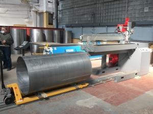 Установка АС333-2000 для ТИГ-сварки продольных швов обечаек длиной до 2000 мм