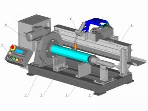 Установка АС376 для наплавки цилиндрических поверхностей