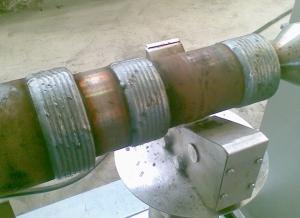 Востановленная деталь  после наплавки на установке АС354