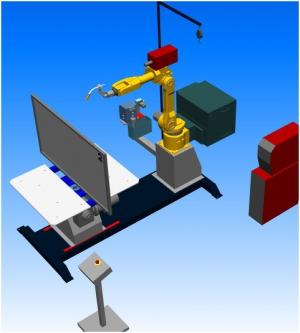 Компоновка робототезнического комплекса РК752-эконом производства НАВКО-ТЕХ