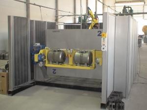 Комплекс РК754-2 для сварки одновременно двумя роботами корпусных изделий