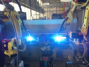 Сварка корпусов гидроаккумуляторов на комплексе РК754-2