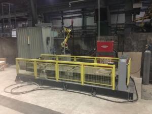 Робототехнический комплекс РК757 для многослойной наплавки на торец рельса и рельсового окончания крестовины