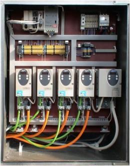 Монтажная панель блока управления установкой Ас354-2