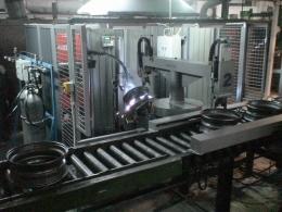 Установка АС363 для МИГ-сварки колес встроенная в конвейерную линию