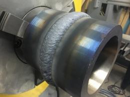 Пример наплавленной поверхности на установке АС375