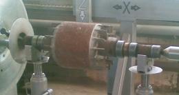 Ротор электродвигателя после наплавки на установке АС354