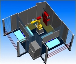 Компоновка робототезнического комплекса РК752-3 производства НАВКО-ТЕХ