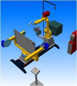 Компоновка робототезнического комплекса РК755-эконом производства НАВКО-ТЕХ