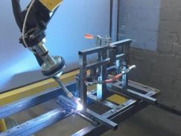 Сварка каркасов стульев Школьник, низ на робототехническом комплексе РК752