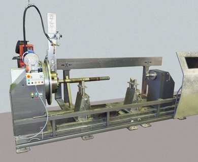 A machine AS354-5000 for metal surfacing